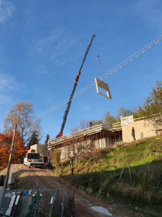 Demolizione e ricostruzione in legno a Grignasco